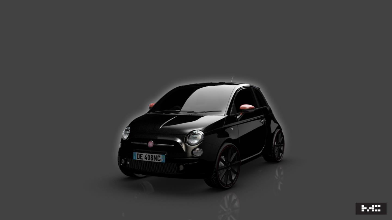 Fiat 500 black